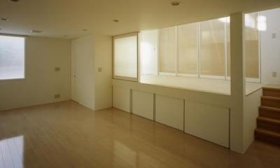 下石神井の家Ⅱ~吹抜け+スキップフロアの家 (書斎)