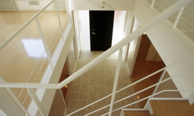 下石神井の家Ⅱ~吹抜け+スキップフロアの家 (ホール2)