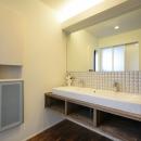 トンガリ屋根の家の写真 洗面室