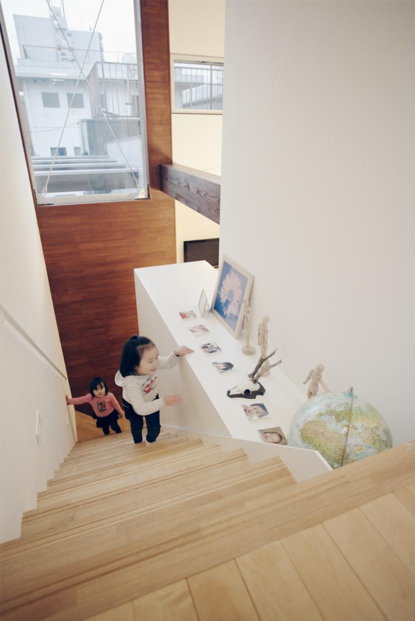 セイタカノッポの写真 階段