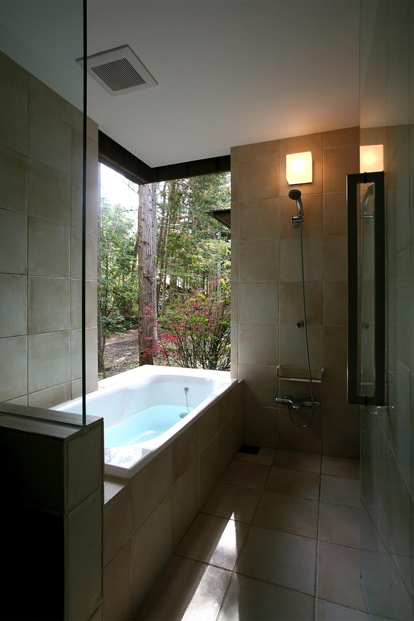 006軽井沢Kさんの家 (浴室)