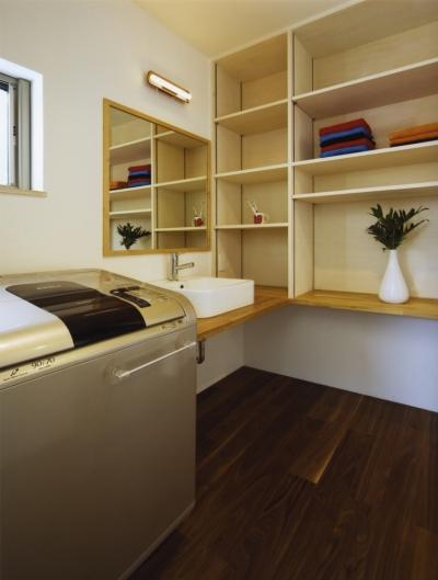洗面室 (西正和台の家)