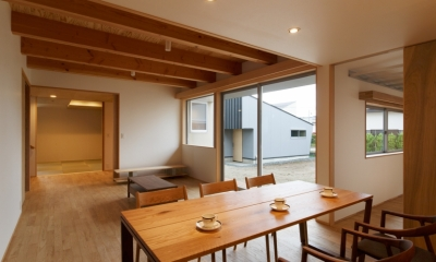 秋田の田舎の家 (リビング)