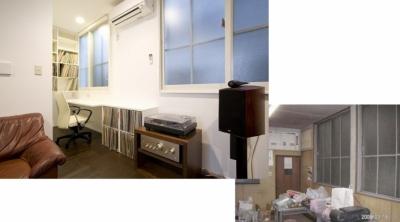 書斎コーナーのあるオーディオルーム (リフォーム・リノベーション(築45年・・・昭和の家を気分も一新))