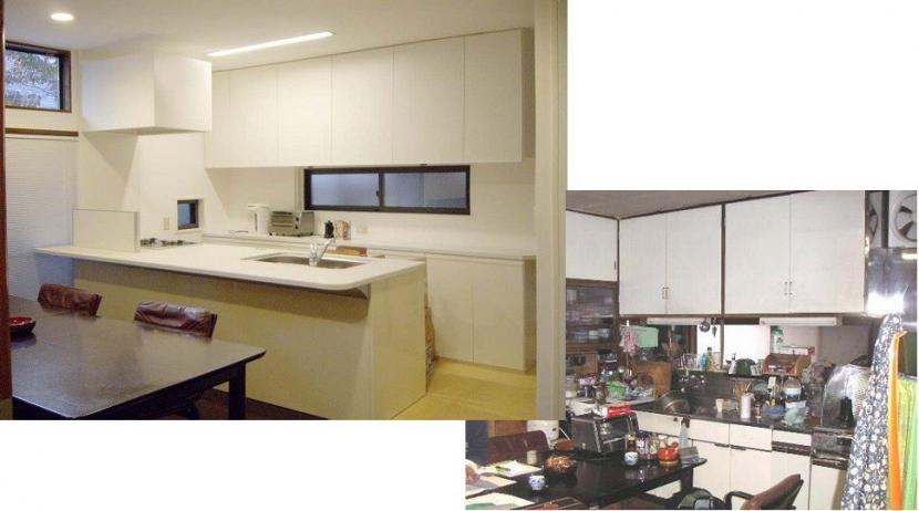 リフォーム・リノベーション(築45年・・・昭和の家を気分も一新) (気分も一新、シンプルホワイトな仕上げで空間の広がりを。)