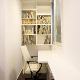 リフォーム・リノベーション(築45年・・・昭和の家を気分も一新) (書斎コーナーのあるオーディオルーム ♯2)