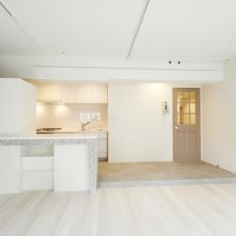リノベーション・リフォーム会社 リノままの住宅事例「モノトーン×素材感を愉しむ」