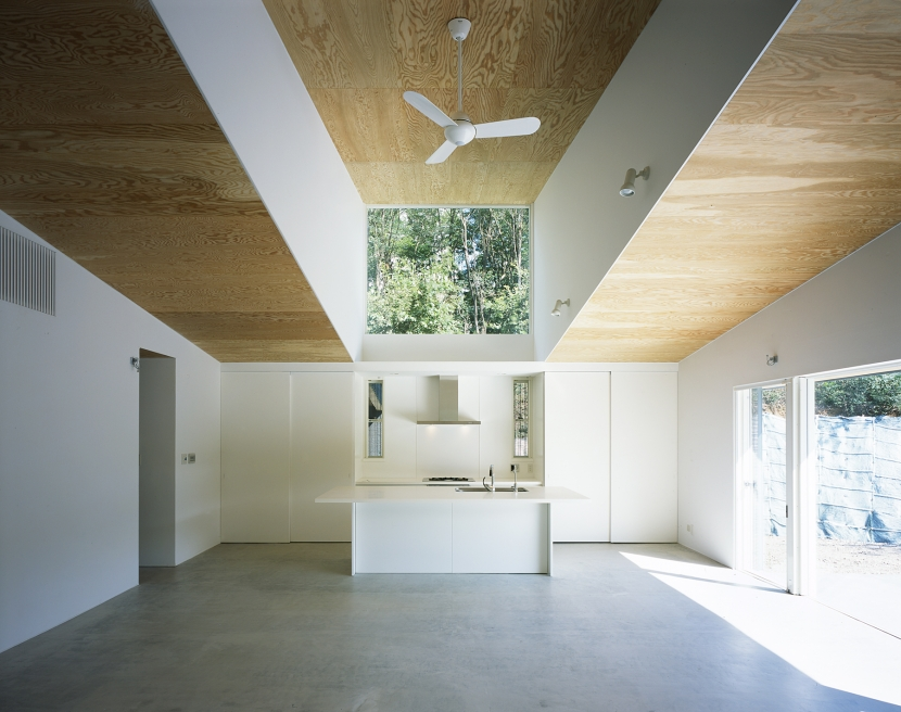 山梨の家~勾配天井の別荘の写真 LDK2