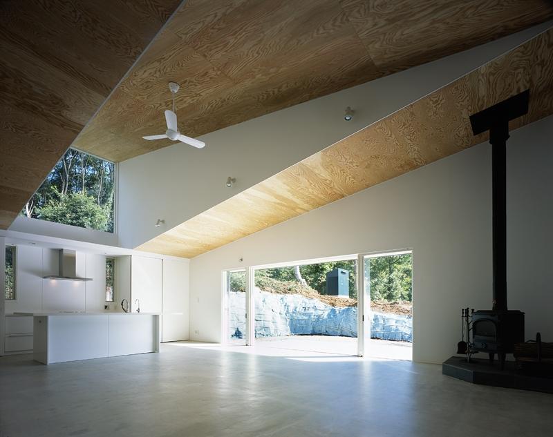 建築家:森 信人「山梨の家~勾配天井の別荘」