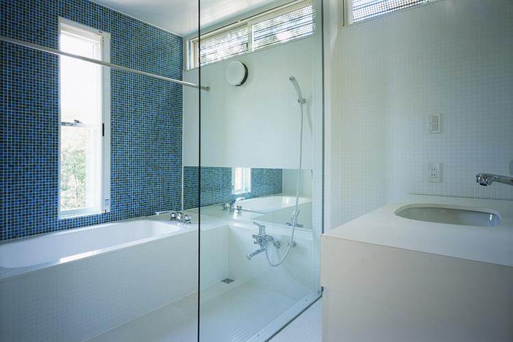 山梨の家~勾配天井の別荘の写真 浴室