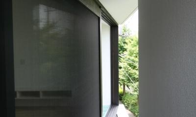 アトリエのあるスキップフロアの家 OUCHI-03 (ベランダ)