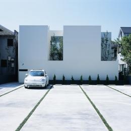 新小岩の家~4つの中庭のある家 (外観)