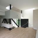 アトリエのあるスキップフロアの家 OUCHI-03の写真 リビング