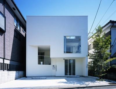 下井草の家~スキップフロア+ルーフガーデンの家 (外観)