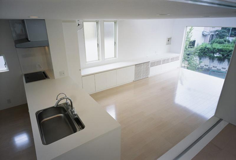 下井草の家~スキップフロア+ルーフガーデンの家の写真 LDK2