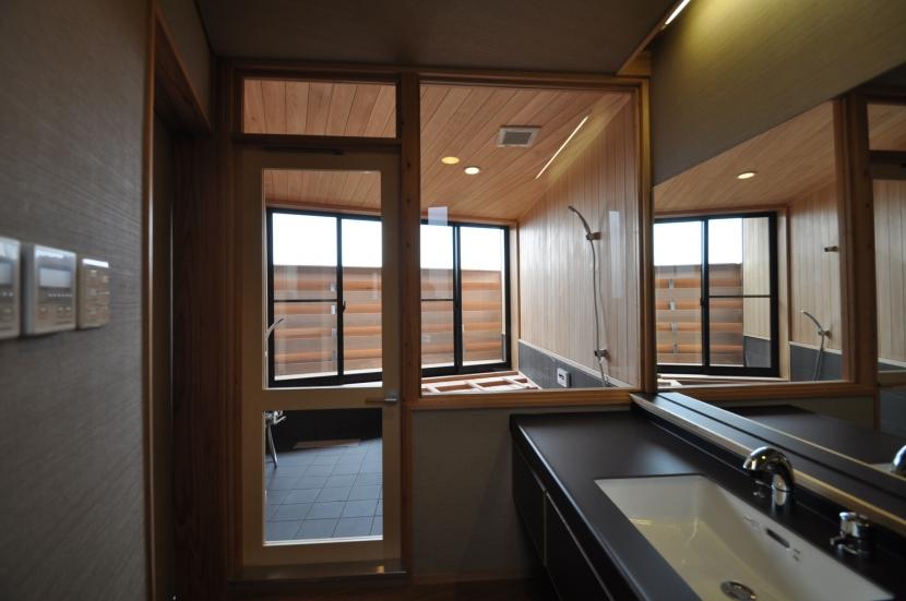 那須の別荘の部屋 浴室