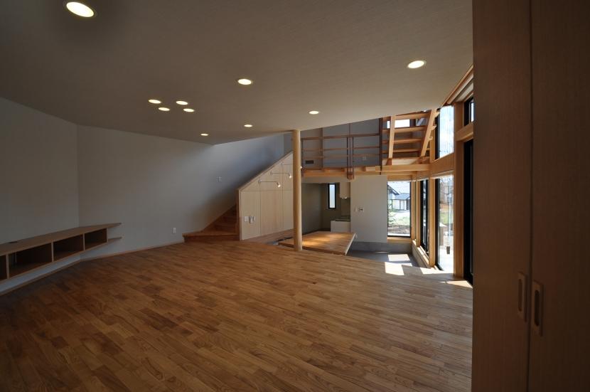 那須の別荘の部屋 リビング・ダイニング
