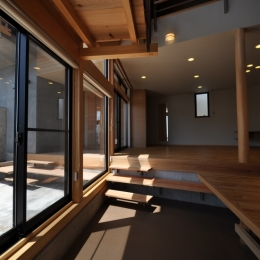 那須の別荘 (ダイニング・リビング)