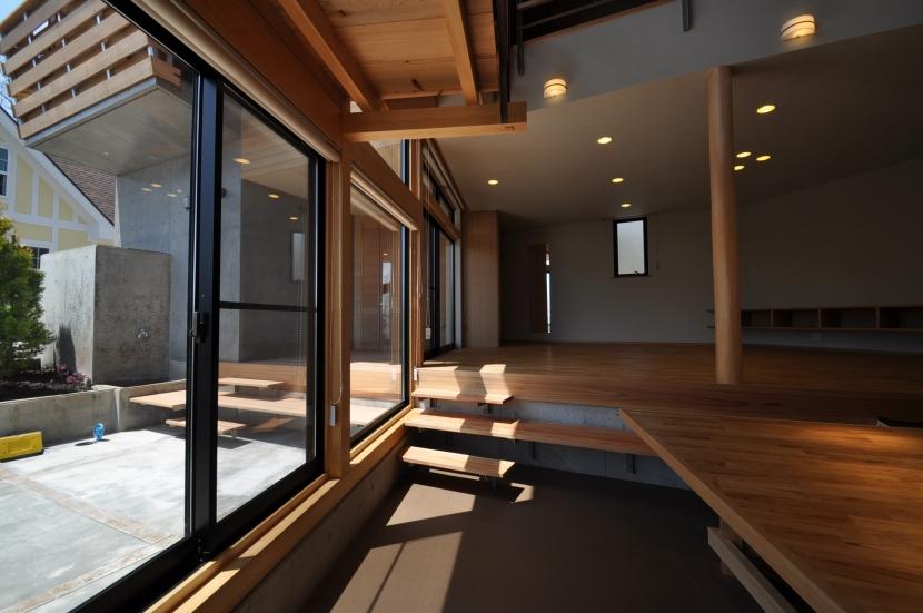 那須の別荘の部屋 ダイニング・リビング