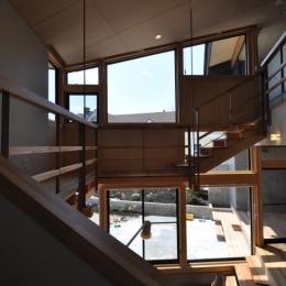 那須の別荘 (吹き抜け階段)