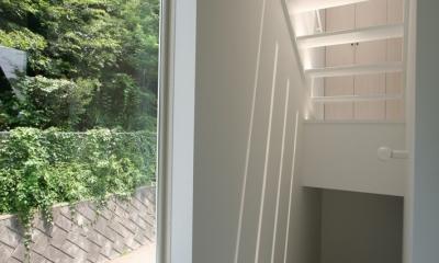 アトリエのあるスキップフロアの家 OUCHI-03 (階段)
