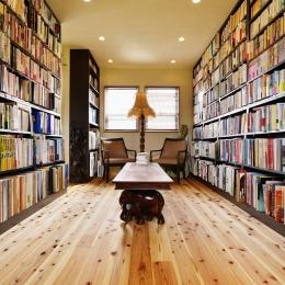 暮らしが活きる 大人の古民家風リノベ―ション (「図書室」としての空間)