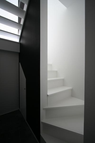 階段 (アトリエのあるスキップフロアの家 OUCHI-03)