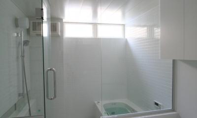 アトリエのあるスキップフロアの家 OUCHI-03 (バスルーム)