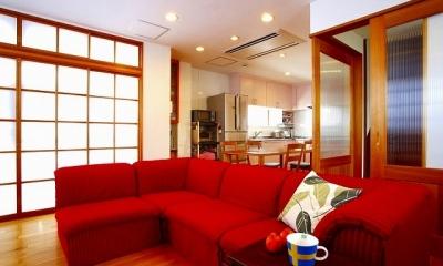 リビング|栃木県宇都宮市の鉄骨造3階戸建てリフォーム SS-house