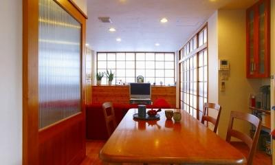 栃木県宇都宮市の鉄骨造3階戸建てリフォーム SS-house (ダイニング)
