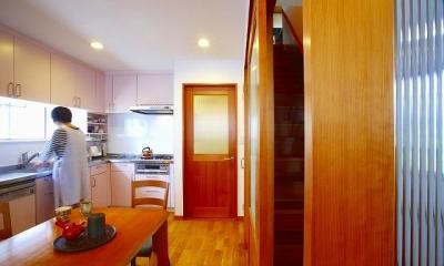 栃木県宇都宮市の鉄骨造3階戸建てリフォーム SS-house (キッチン)