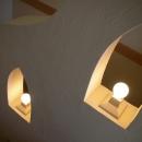階段室の手すりとランプ