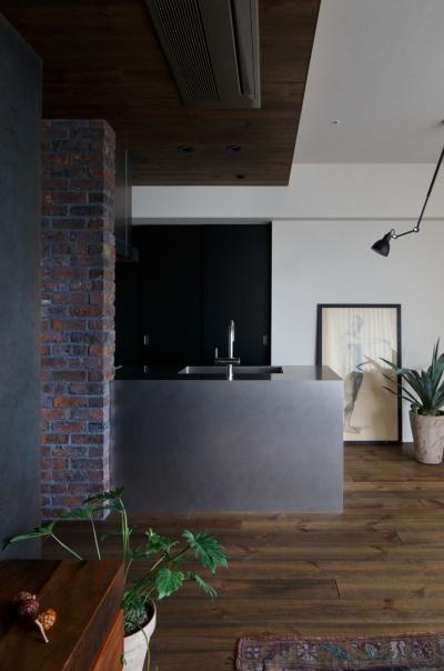 上品なラフ空間 (キッチン)