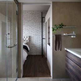 上品なラフ空間 (バスルーム)