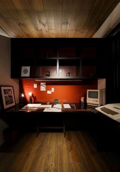 書斎スペース (上品なラフ空間)