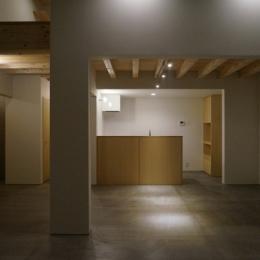 上堀の家 (リビング・ダイニング・キッチン)