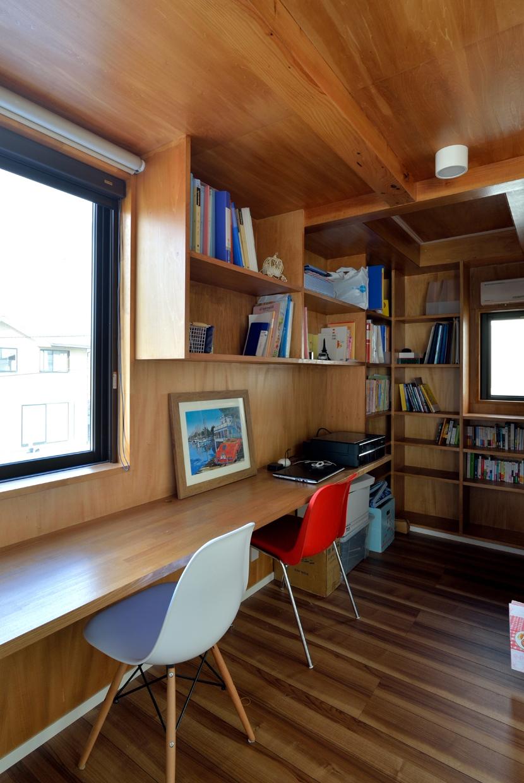 北根黒松の家の写真 スタディコーナー