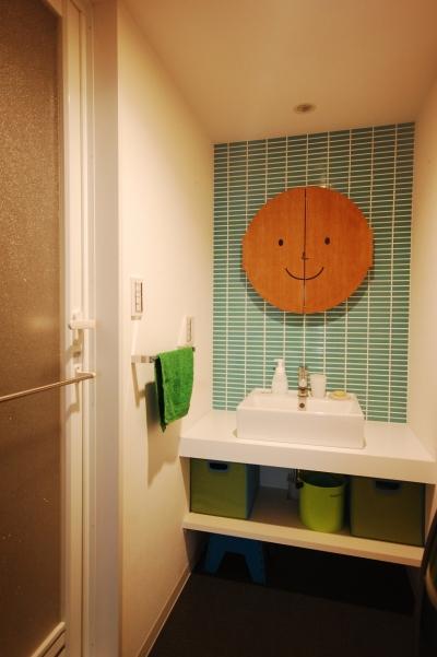 洗面室 (色でコーディネート!)