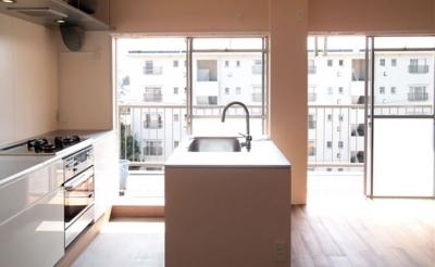 板橋区S邸_団地を買ってリノベーション (キッチン)