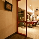 夢工房の住宅事例「中庭のある レストラン」