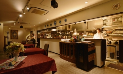 東京都大田区Y様邸 ~中庭のあるレストラン~ (厨房)
