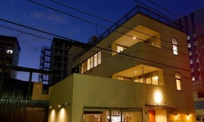 東京都大田区Y様邸 ~中庭のあるレストラン~ (外観)
