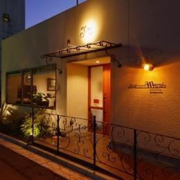 東京都大田区Y様邸 ~中庭のあるレストラン~ (レストランの入り口)