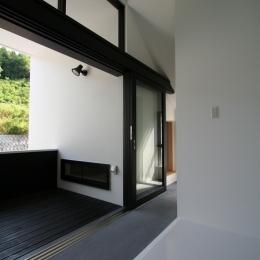オウチ02・鳥取の家 (外部と一体にできる玄関)