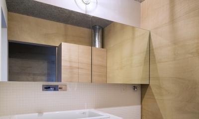 洗面・脱衣室|上大野の家