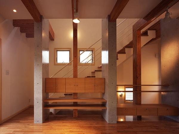 常盤平の家の部屋 リビング01
