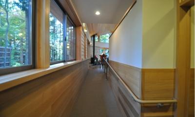 スロープ|軽井沢の別荘