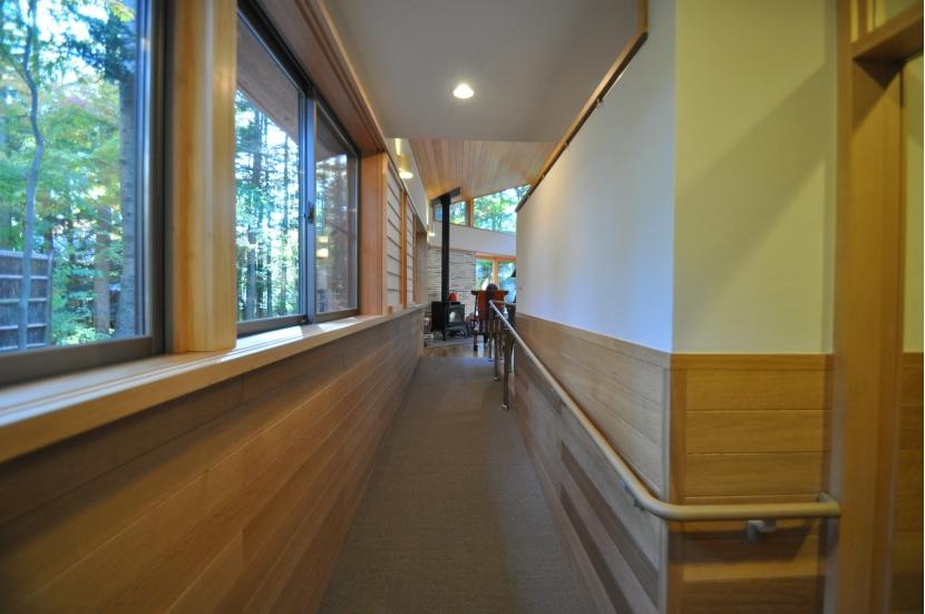 軽井沢の別荘の部屋 スロープ