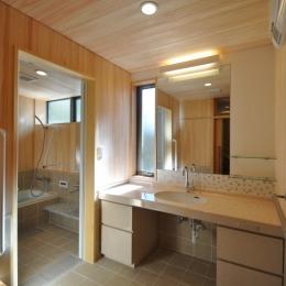 軽井沢の別荘 (浴室・洗面)