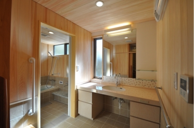 浴室・洗面 (軽井沢の別荘)